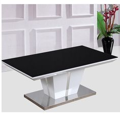 Mozart High Gloss Coffee Table With Glass Top