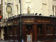 The Chandos pub in central London. It was my 'local'.