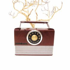Vintage RCA Victor Radio Portable Tube Radio Brown by WhimzyThyme