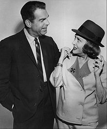 Actress and Fashion Icon, Gloria Swanson with Fred MacMurray in the promo of My Three Sons (1965)
