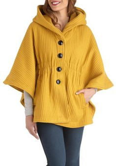 In a Curry Cape, #ModCloth perfect for ASU football