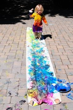 Awesome #color walk for #kids! #summer #craft