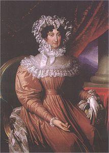 Maria Beatrice Ricciarda d'Este.1750-1829. Figlia di Ercole II d'Este e Maria Teresa Cybo-Malaspina, nel 1771 sposò Ferdinando d'Asburgo-Este..Era figlia di Ercole III d'Este e fu Duchessa di Massa Carrara dal 1790 al 1797 e dal 1814 al 1829.Ebbe figlio Francesco IV regnante su Modena dal 1814 al 1846.