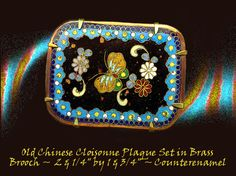 Large 19th C. Chinese Cloisonne Enamel Floral Moth Brooch ~ R C Larner Buttons at eBay  http://stores.ebay.com/RC-LARNER-BUTTONS
