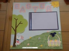Paper Crafts, Easter Scrapbook layout, Cricut
