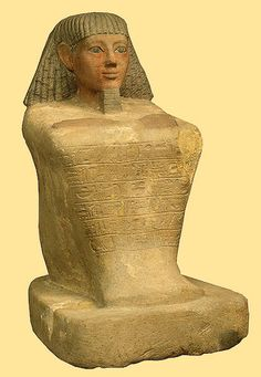 Egypt - 16th cent. B.C. Statue of the Scribe Maaniamun (Hermitage, limestone | Flickr - Photo Sharing!