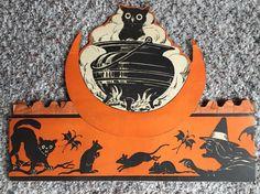 Beistle Owl Cauldron Honeycomb Band Hat 1921 Authentic | eBay