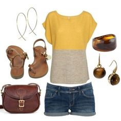 Perfect summer outfit. Could use some jeans shorts - not too short!!