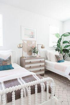Modern coastal girl's room by Pure Salt Interiors