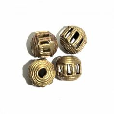 Small Round  Brass Beads