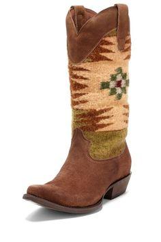{Abeline Western Boot} Matisse - w/ upper Southwestern knit detail