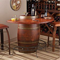 Wine Barrel Bar plans | Pinterest | Base cabinets, Barrels and Doors