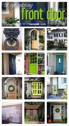 Grand front door makeover ideas!