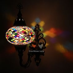 Handmade Turkish Moroccan Style Mosaic Wall Sconce Lamp Light Large Globe Sconce Lamp, Wall, Mosaic Flooring, Light, Mosaic, Paper Lamp, Mosaic Wall, Mosaic Lamp, Moroccan Style