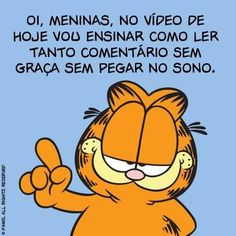 Quando tentam polemizar um post seu. Garfield, Pet Shop, Cool Words, Cool Pictures, Geek Stuff, How To Plan, Comics, Cartoon, Funny