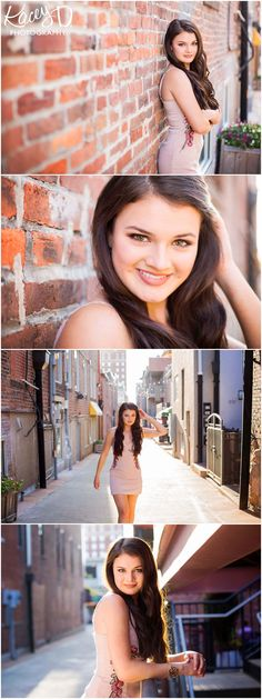 Cute Downtown Senior Picture Ideas for Girls - Photographer Columbia, MO Kacey D Photography