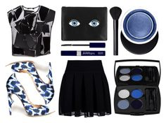 """""""Blue Eyez r Watchin"""" by emcf3548 ❤ liked on Polyvore featuring DKNY, Jerome C. Rousseau, Charlotte Olympia, Junya Watanabe Comme Des Garcons, Estée Lauder, NARS Cosmetics and Lancôme"""