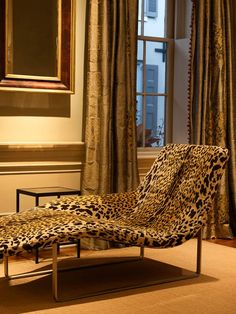 leopard print chaise covered in fabric from luigi bevilacqua Decor, Furniture, Interior, Home, House Styles, Animal Print Furniture, House Interior, Chaise Lounge, Interior Design