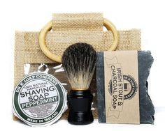 Mens Shaving Set Shaving Kit Eco Friendly by drksoapcompany, on Etsy