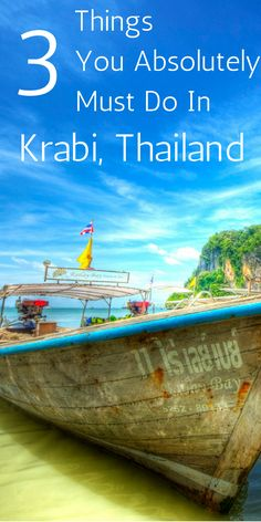 Dreaming of Thailand, here's three things you absolutely must do when you visit Krabi. http://theminimillionaire.com/travel/asia/3-things-to-do-in-krabi/?utm_campaign=coschedule&utm_source=pinterest&utm_medium=Cora%20Harrison%20-%20Financial%20and%20Location%20Independence&utm_content=3%20Things%20You%20Absolutely%20Must%20Do%20In%20Krabi%2C%20Thailand