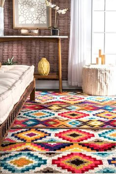Rugs USA - Area Rugs in many styles including Contemporary, Braided, Outdoor and Flokati Shag rugs.Buy Rugs At America's Home Decorating SuperstoreArea Rugs Contemporary Area Rugs, Contemporary Style, Synthetic Rugs, Rugs Usa, Buy Rugs, Round Rugs, Online Home Decor Stores, Retro, Colorful Rugs