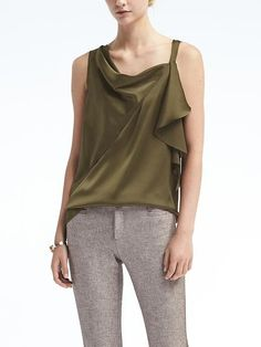 The Best (Non-Office-y) Things to Buy at Banana Republic Right Now Boyfriend Fit Jeans, Camo Fashion, Things To Buy, Stuff To Buy, Tailored Shirts, Cowl Neck Top, Asymmetrical Tops, Draped Dress, Modern Outfits