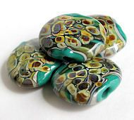 Handmade Lampwork Lentil Beads-Exclusive Lentil Glass Beads