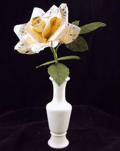 sheet music rose centerpiece