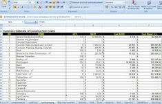 construction cost control excel sheet. for editing and managing.