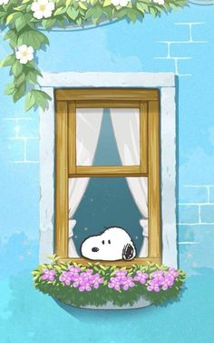 Snoopy, day dreaming in the window Peanuts Cartoon, Peanuts Snoopy, Snoopy Pictures, Cute Pictures, Snoopy Wallpaper, Iphone Wallpaper, Snoopy Quotes, Bd Comics, Charlie Brown And Snoopy
