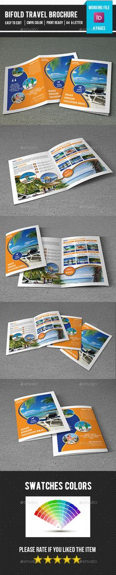 Holiday Travel Brochure Design v3 Travel brochure, Brochures and - vacation brochure template