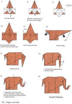 From Origami and Math: Dover Publications - Simple Elephant 2 of 2