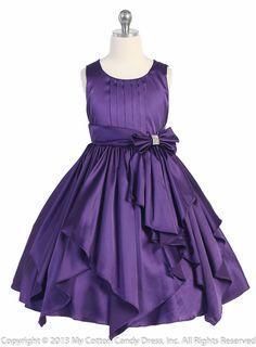Purple Flower Girl Dresses | Purple Ribbon Sashes Flower Girl Dress