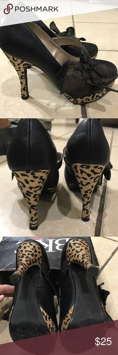 BKE heels Black & gold leopard; Mary Jane style BKE Shoes Heels