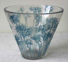 Bluets Vase c.1914 - Wheel-cut R Lalique