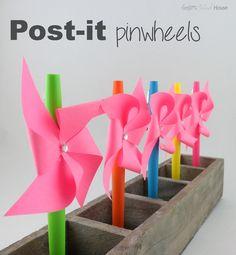 Post-it Pinwheels.  So easy!