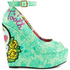 Iron Fist Women's Sweet tooth Peep Wdg - Multi (92 CAD) ❤ liked on Polyvore featuring shoes, peep toe shoes, peeptoe shoes, synthetic shoes, ankle strap shoes and peep toe platform shoes