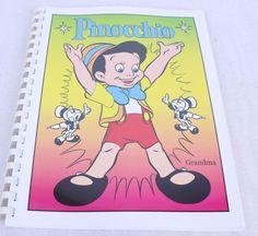 Pinocchio Coloring Book Unused Spiral Bound #Pinocchio