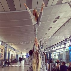 Erica Mohn Kvam Norway Nixies, stunting at the airport <3