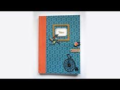 Tutorial para hacer una libreta de notas decorada desde cero. Learn how to make a decorated notebook from start to finish. Mis creaciones en venta en / You c...