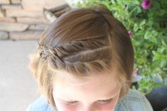 Double French Twistbacks (top) for little girls hair