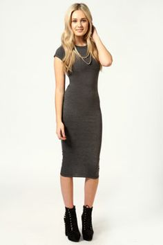 Adorable.. Obsessed with midi length!! Cara Cap Sleeve Jersey Bodycon Midi Dress