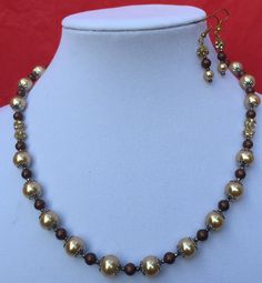Necklace and Earrings Set/Glass by MyCreationsDesigns on Etsy