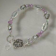 "Engraved Sister Gift Bracelet Abernook. $30.00. Our Personalized Sister Bracelet with layered in sterling silver filigree heart.. Bracelet fits a wrist up to 7 3/4"".. Great gift for your sister this christmas season or for a special birthday gift.. Includes FREE Engraving. Personalize your Sister Bracelet with any initial. ( ie. M ). Enter personalization in gift note section of checkout."