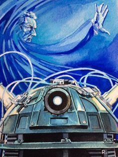 """""""Into the Dalek. Watercolour with acrylic, A6. #drwho #DoctorWho"""""""