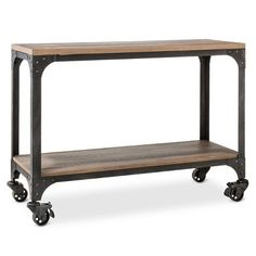 Franklin Console Table - The Industrial Shop™ 30x42x16.  $207