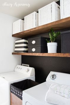 Big on style and easy on the budget. A laundry room makeover for $200