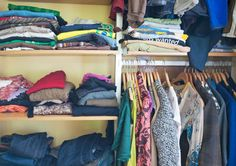 Closet Full of Clothing - Marlene Ford/Spaces Images/C