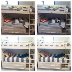ZIP YOUR BUNK BEDS! BEFORE Beddy's and AFTER Beddy's. Not all striped bedding is created equal If you have bunk beds you're gonna need our bedding! #cutebedding #bunkbed #ZipYourBed #BunkBeds #Beddys