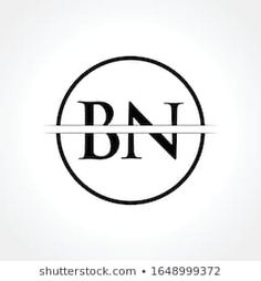 Bn Images, Stock Photos & Vectors | Shutterstock Free Graphic Design Software, Creative Circle, Name Logo, Typography, Lettering, Black Letter, Vectors, Initials, Royalty Free Stock Photos